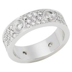 Cartier 18 Karat White Gold Full Diamond Love Ring