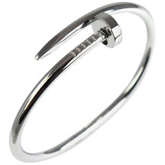 Cartier 18 Karat White Gold Just Un Clou Bracelet