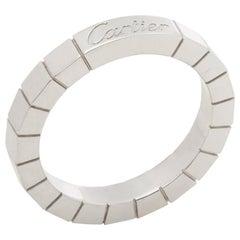 Cartier 18 Karat White Gold Lanieres Band Ring