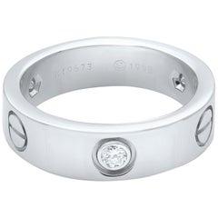 Cartier 18 Karat White Gold Love 3 Diamonds Ring