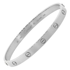 Cartier 18 Karat White Gold Love Bangle Bracelet