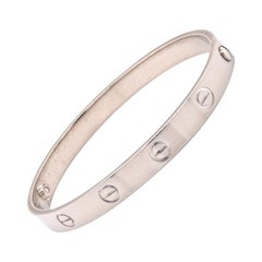 Cartier 18 Karat White Gold Love Bracelet