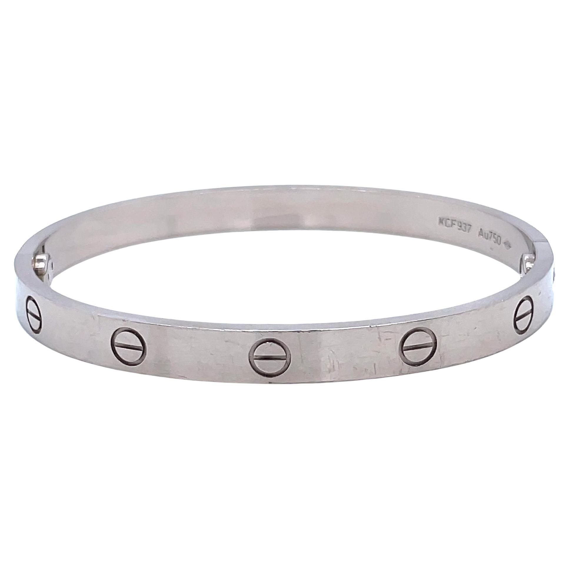 Cartier 18 Karat White Gold Love Bracelet