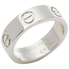 Cartier 18 Karat White Gold Love Ring