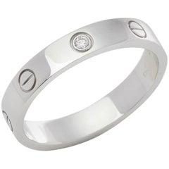 Cartier 18 Karat White Gold Love Ring