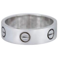 Cartier 18 Karat White Gold Love Wedding Band Ring