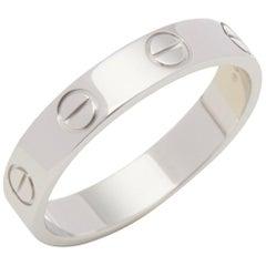 Cartier 18 Karat White Gold Love Wedding Ring