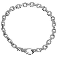 Cartier 18 Karat White Gold Mepra Chain Bracelet