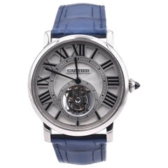 Cartier 18 Karat White Gold Rotonde de Cartier Flying Tourbillion