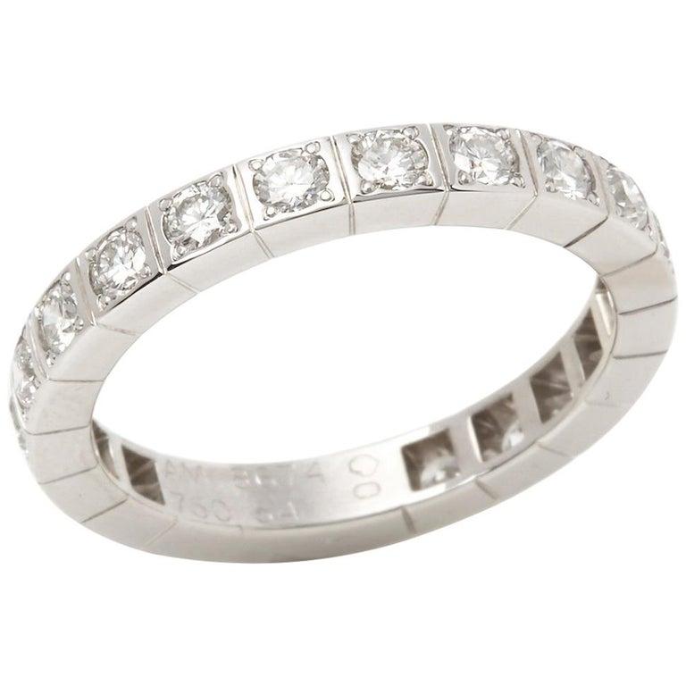 cf151f6826d8e Cartier 18 Karat White Gold Round Cut Diamond Lanieres Band Ring