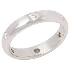 Cartier 18 Karat White Gold Six Round Cut Diamond Band Ring