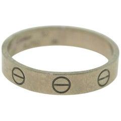 Cartier 18 Karat White Gold Thin Small Band Love Ring