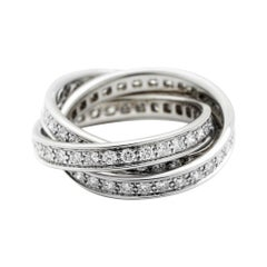 Cartier 18 Karat White Gold Trinity Ring