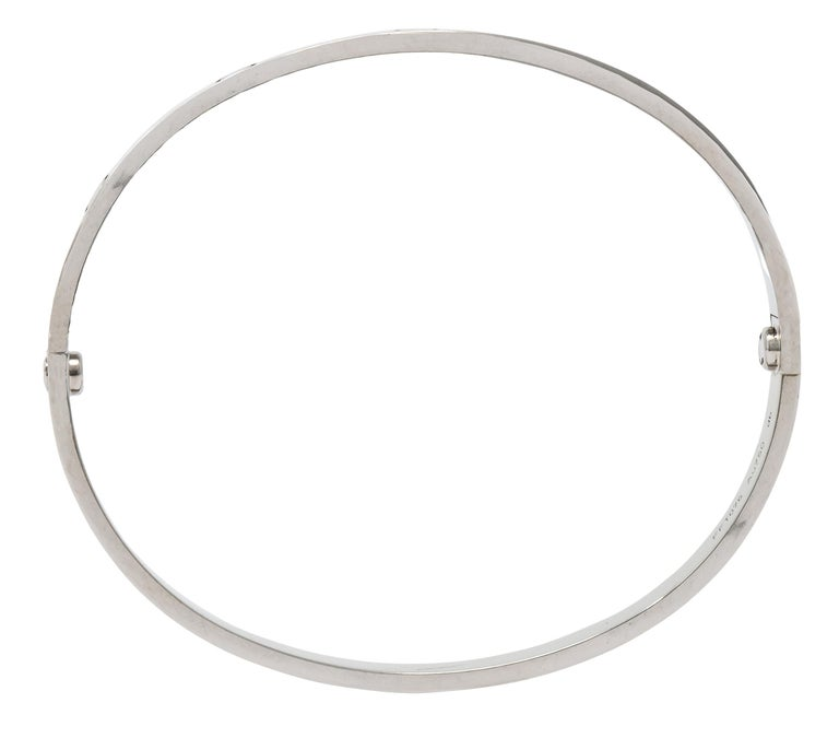 Cartier 18 Karat White Gold Unisex Love Bangle Bracelet For Sale 2