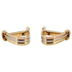 Cartier 18 Karat weiß, gelb und Rose Gold Dreieck Manschettenknöpfe