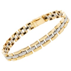 Cartier 18 Karat Yellow and White Gold Maillon Panthère Bracelet
