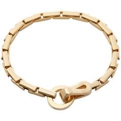 Cartier 18 Karat Yellow Gold Agrafe Link Bracelet