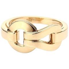 Cartier 18 Karat Yellow Gold Agrafe Ring
