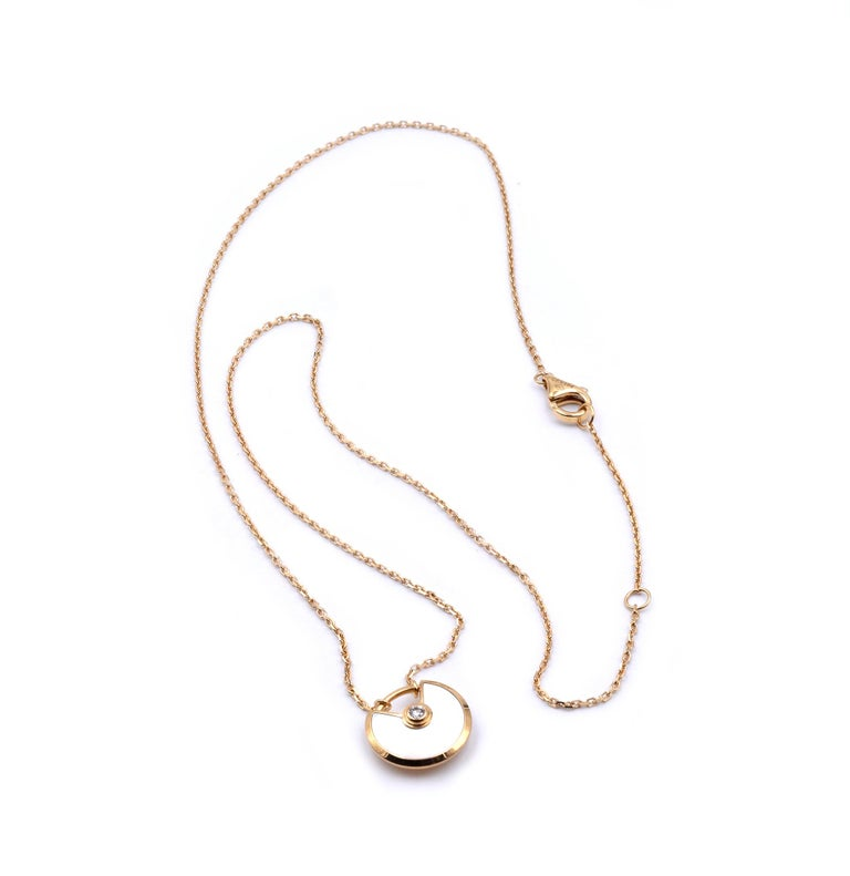 Designer: Cartier Material: 18k yellow gold Dimensions: necklace measures 16-inches Weight: 3.08 grams Serial # CFYXXX