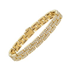 "Cartier 18 Karat Yellow Gold and Diamond ""Maillon Panthère"" Bracelet"