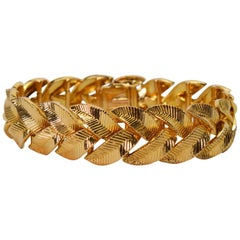 Cartier 18 Karat Yellow Gold Braided Leaf Bracelet