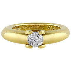 Cartier 18 Karat Yellow Gold Brilliant Cut Diamond Ring