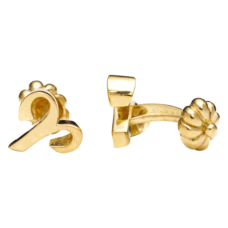 Cartier 18 Karat Yellow Gold Cufflinks