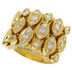 Cartier 18 Karat Yellow Gold Diadea Diamond Ring