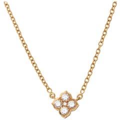 Cartier 18 Karat Yellow Gold Diamond Inde Mystérieuse Pendant Necklace