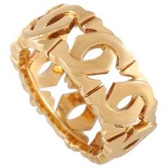 Cartier 18 Karat Yellow Gold Double C Ring