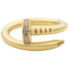 Cartier 18 Karat Yellow Gold Juste Un Clou Diamond Ring
