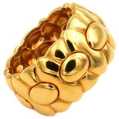 Cartier 18 Karat Yellow Gold Ladies Band Ring, 1989