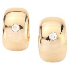 Cartier 18 Karat Yellow Gold Ladies Clip-On Earrings with Diamonds