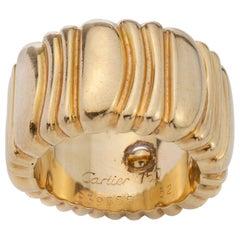 Cartier 18 Karat Yellow Gold Ladies Ring Band, 1992