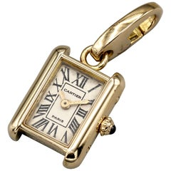 Cartier 18 Karat Yellow Gold Louis Cartier Watch Charm