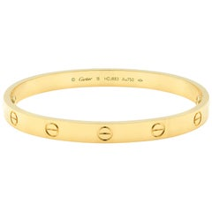 Cartier 18 Karat Yellow Gold Love Bangle Bracelet