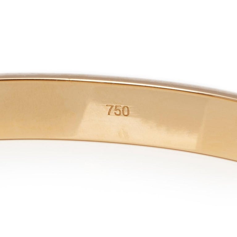 Cartier 18 Karat Yellow Gold Love Bangle For Sale 2