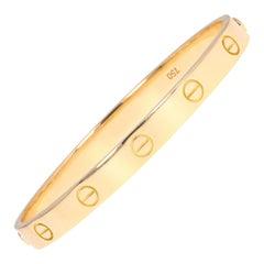 Cartier 18 Karat Yellow Gold Love Bracelet