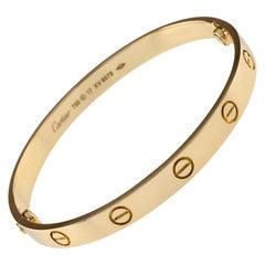 Cartier 18 Karat Yellow Gold Love Bracelet New Screw Mechanism