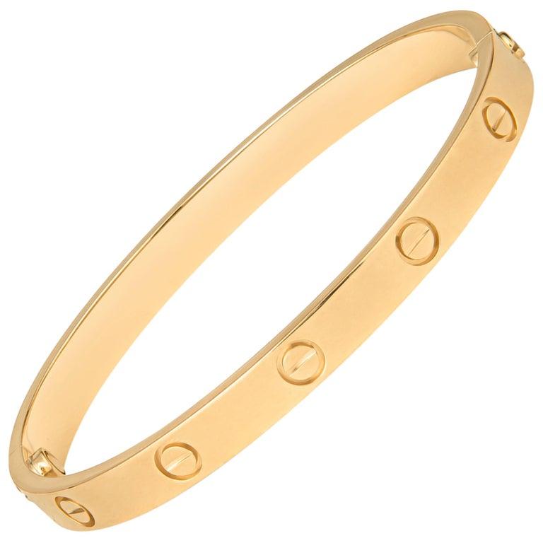 Cartier 18 Karat Yellow Gold Love Bracelet with Screwdriver