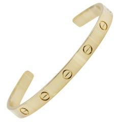 Cartier 18 Karat Yellow Gold Love Cuff Bracelet