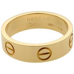 Cartier 18 Karat Yellow Gold Love Ring