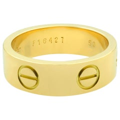 Cartier 18 Karat Yellow Gold Love Ring