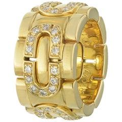 Cartier 18 Karat Yellow Gold Maillon Oval Link Diamond Ring