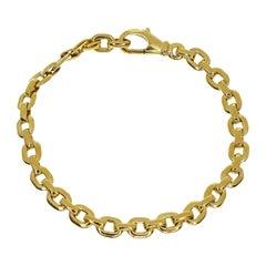 Cartier 18 Karat Yellow Gold Meplat Chain Bracelet