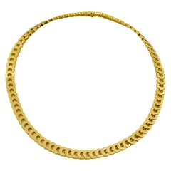 Cartier 18 Karat Yellow Gold Mini C de Cartier Choker Necklace