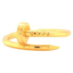 Cartier 18 Karat Yellow Gold Nail Ring