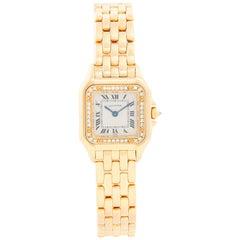 Cartier 18 Karat Yellow Gold Panther Ladies Watch