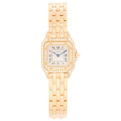Cartier 18 Karat Yellow Gold Panther Ladies Watch WF3254B9 1280