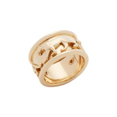 Cartier 18 Karat Yellow Gold Panthere Ring